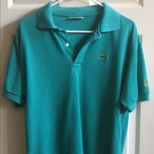Green Chemise Lacoste 2 Button Polo Shirt, L